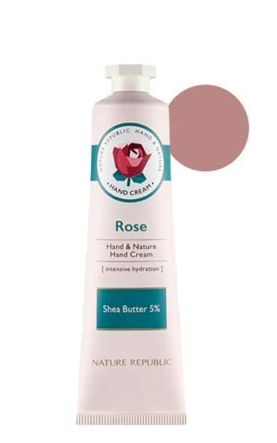 [リニューアル]ネイチャーリパブリック NATURE REPUBLIC ハンドアンドネイチャーハンドクリーム Hand & Nature Hand Cream (# ROSE) [並行輸入品]