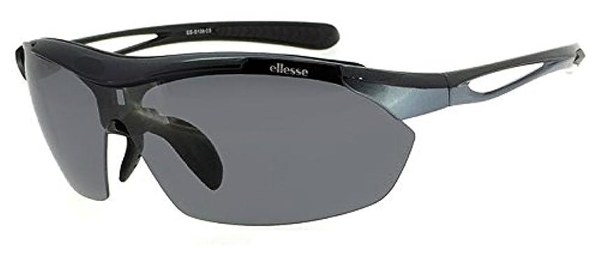 製造不定反逆者(エレッセ)ellesse スポーツサングラス ES-S108 メンズ 男性用 偏光 ミラー クリア レンズ 5枚付属 ゴルフ テニス ランニング サングラス ES108