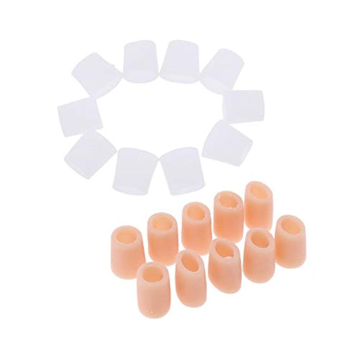 突進図疲労Perfeclan 10ペア シリコン 足指のプロテクター トゥプロテクター フットケア
