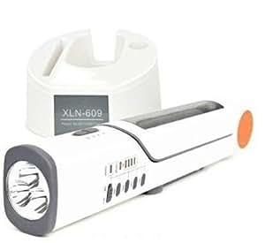 ソーラー充電式FMラジオ付きデスクライト ソーラー&手回し&USB充電&USB出力可能(iPhone4対応) ダイナモ懐中電灯