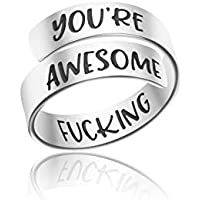 Yiyang Adjustable Ring Jewelry Personalized Rings Birthday Graduation Gifts for Girls