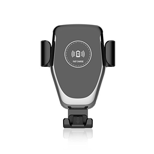 PowMax 車載ワイヤレス充電器 車 無線充電器 ワイヤレスチャージャー iPhone 急速充電 usb スマホ 車載ホルダー スマホスタンド Qi SamsungGalaxy iPhone 対応