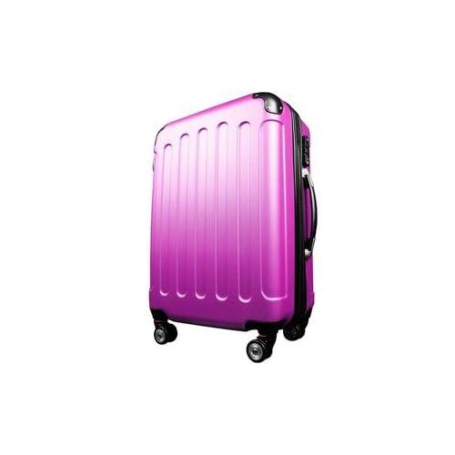 スーツケース/キャリーバッグ 【Lサイズ/大型7~14日】 TSA搭載 軽量 ファスナー ピンク