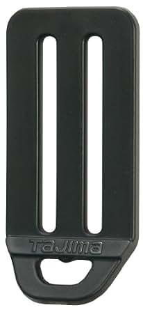 タジマ 安全帯 L型D環止め(樹脂2穴・ブラック) ベルト幅50mm用 TA-LPD2BK