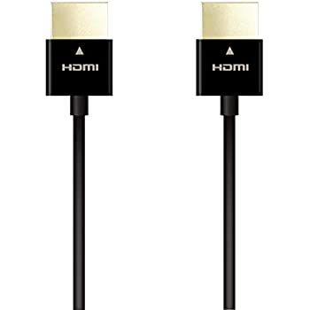エレコム ハイスピードHDMIケーブル 1.0m スーパースリム イーサネット/4K/3D/オーディオリターン 【PS3/PS4/Xbox360/Nintendo Switch/ニンテンドークラシックミニ対応】 ブラック DH-HD14SS10BK