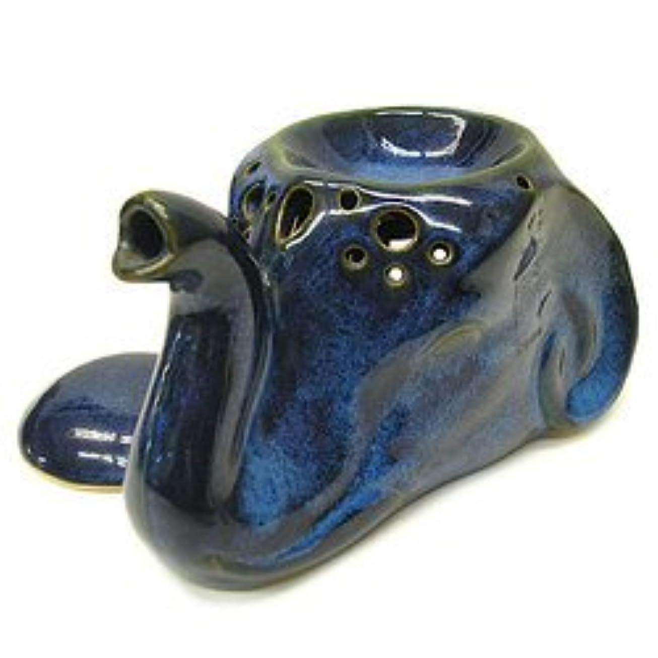 ヒューマニスティック硬化するランドリータバナン 象のアロマオイルバーナーセット 青 アジアン雑貨