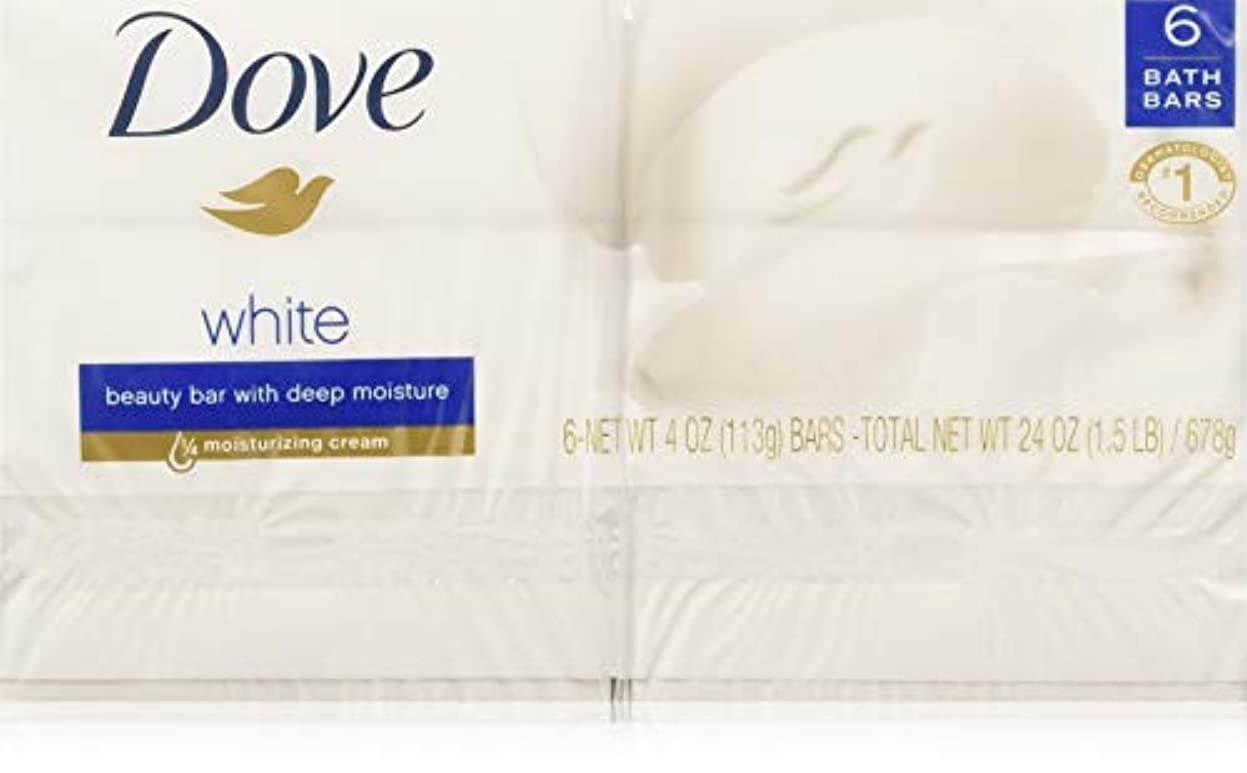 Dove ビューティーバーホワイト4オズ、2バー(8パック) 8パック