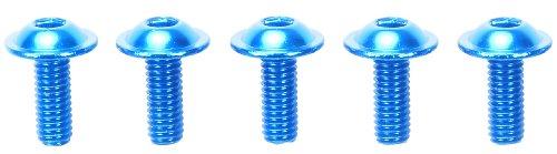 RC限定シリーズ 3×8mm アルミフランジビス (ブルー/5個) 84107