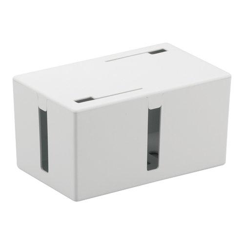BUFFALO ケーブルボックス 電源タップ&ケーブル収容 Sサイズ ホワイト BSTB01SWH