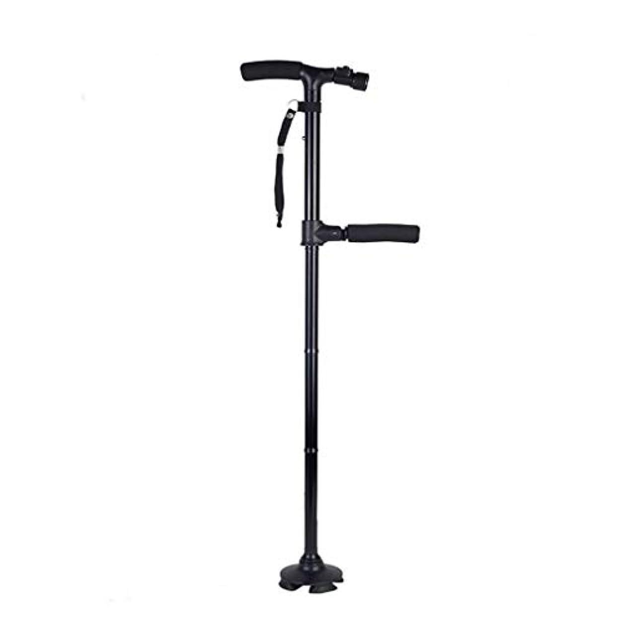 伝染病規模ペグ高さ調節可能な折りたたみ式杖、LEDライト付きアルミニウム歩行補助具-軽量、滑らかな人間工学に基づいた快適なハンドル、ハイキング杖杖高齢者用