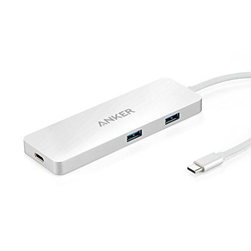 【第2世代】Anker プレミアム USB-Cハブ HDMI & Power Delivery 【高速USB 3.0 2ポート / HDMIポート / USB-C 充電ポート搭載】 USB Power Delivery対応 アルミニウム合金仕上げ フェルトポーチ付属