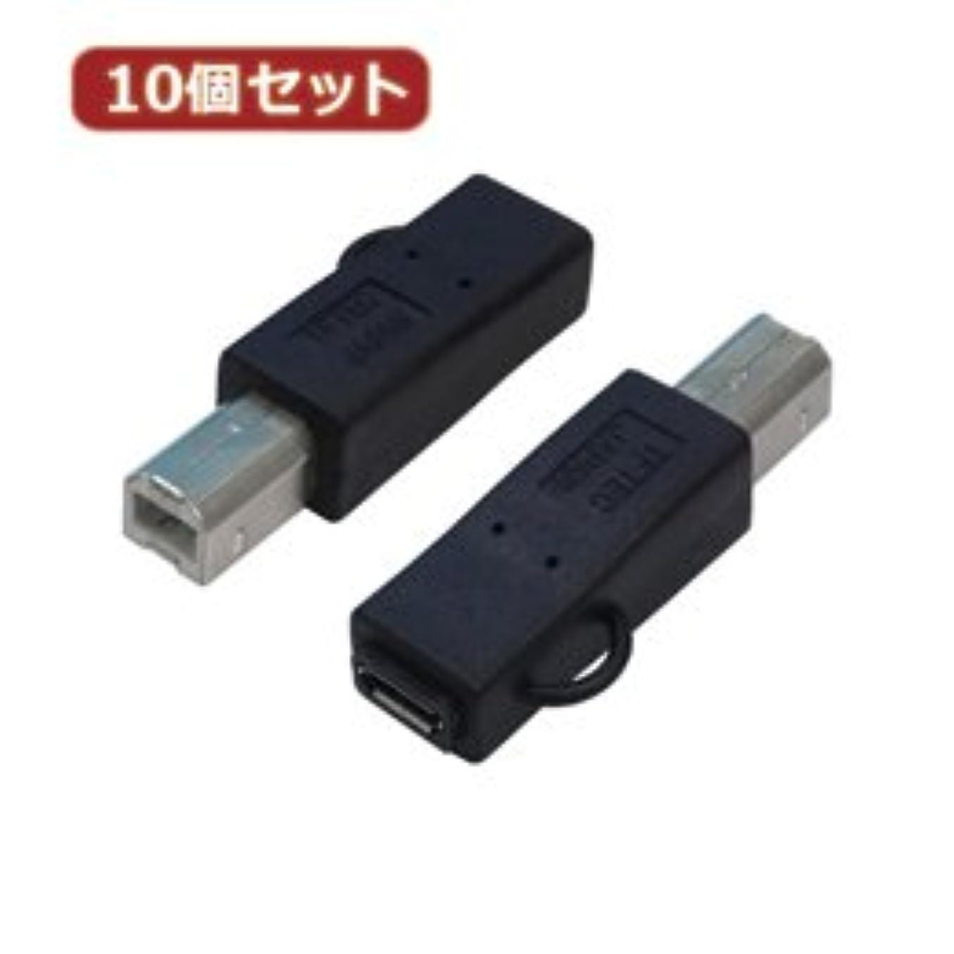 耐えられる年金受給者急襲【まとめ 4セット】 変換名人 10個セット 変換プラグ USB B(オス)→microUSB(メス) USBBA-MCBX10