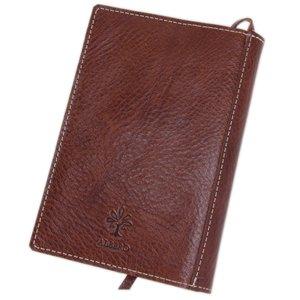 [アルベロ] ALBERO ブックカバー 文庫本サイズ 革 5508 BERRETTA ベレッタシリーズ ブラウン AL-5508-22