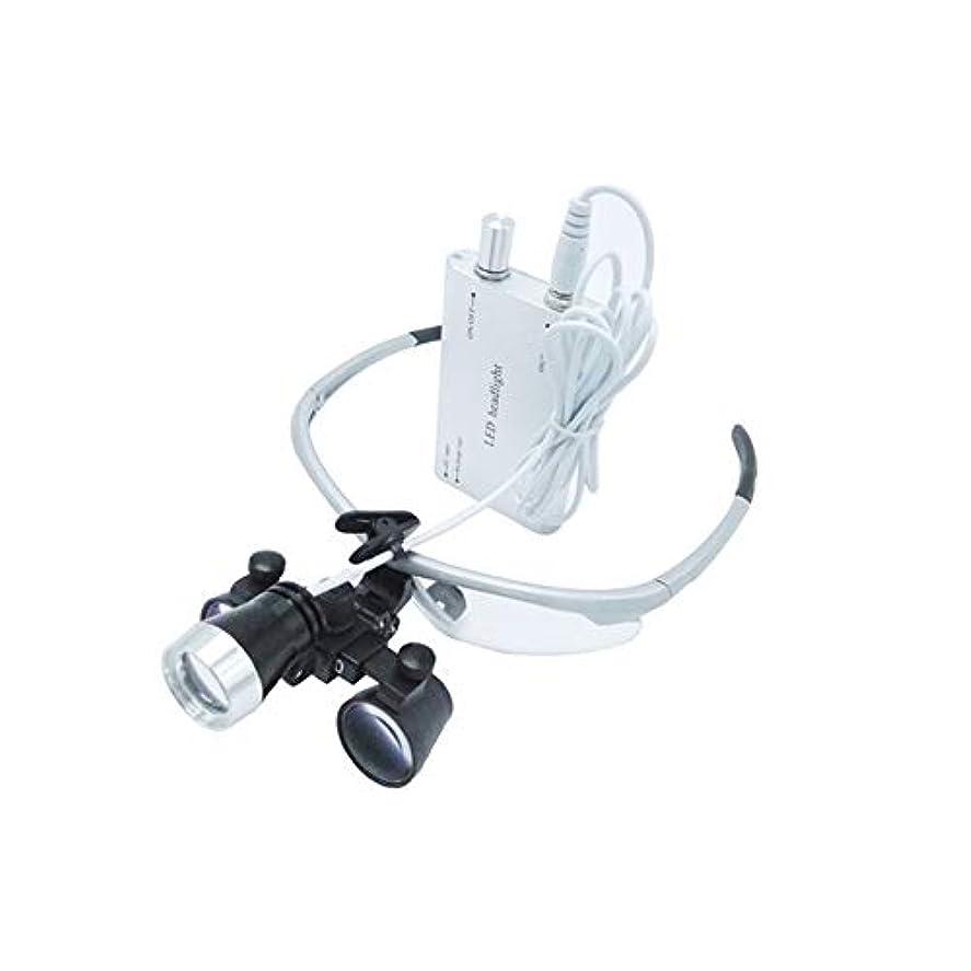給料バイアス放つヘッドライトプロの2.5倍拡大鏡シルバー