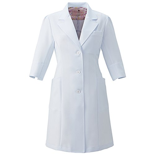 (FOLK) フォーク ワコール ストレッチ レディスコート 女性用 診察衣 白衣 (HI402) ホワイト M