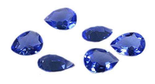 [해외]합성 큐빅 블루 shappire의 CZ 느슨한 보석 1 개 10 × 13 밀리미터 배 블루 측면 보석/Composite cubic zirconia blue shappire CZ loose jewel 1 piece 10 x 13 mm pear blue faceted jewel