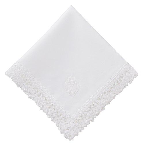 (ハグ ハンカチーフ)hugge handkerchief ブライダル 結婚式 ハンカチ 白 イニシャル(レディース/花嫁) Y
