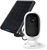 Reolink Security Camera Wireless Outdoor Rechargeable Battery Solar Powered 1080P Night Vision Motion Detection,...
