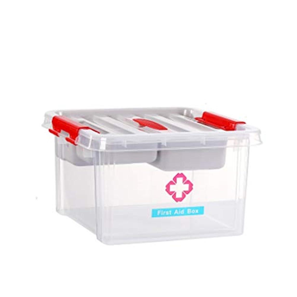 寛容会話便利LWBUKK 薬物保管ボックス、多層大型携帯薬箱、プラスチック家庭用救急箱 医療箱 (Color : A)