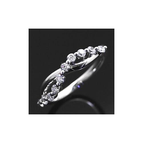 スイートテンリング ダイヤモンド CZ プラチナカラー レディース 指輪 ring プレゼント ギフト TypeA・11号