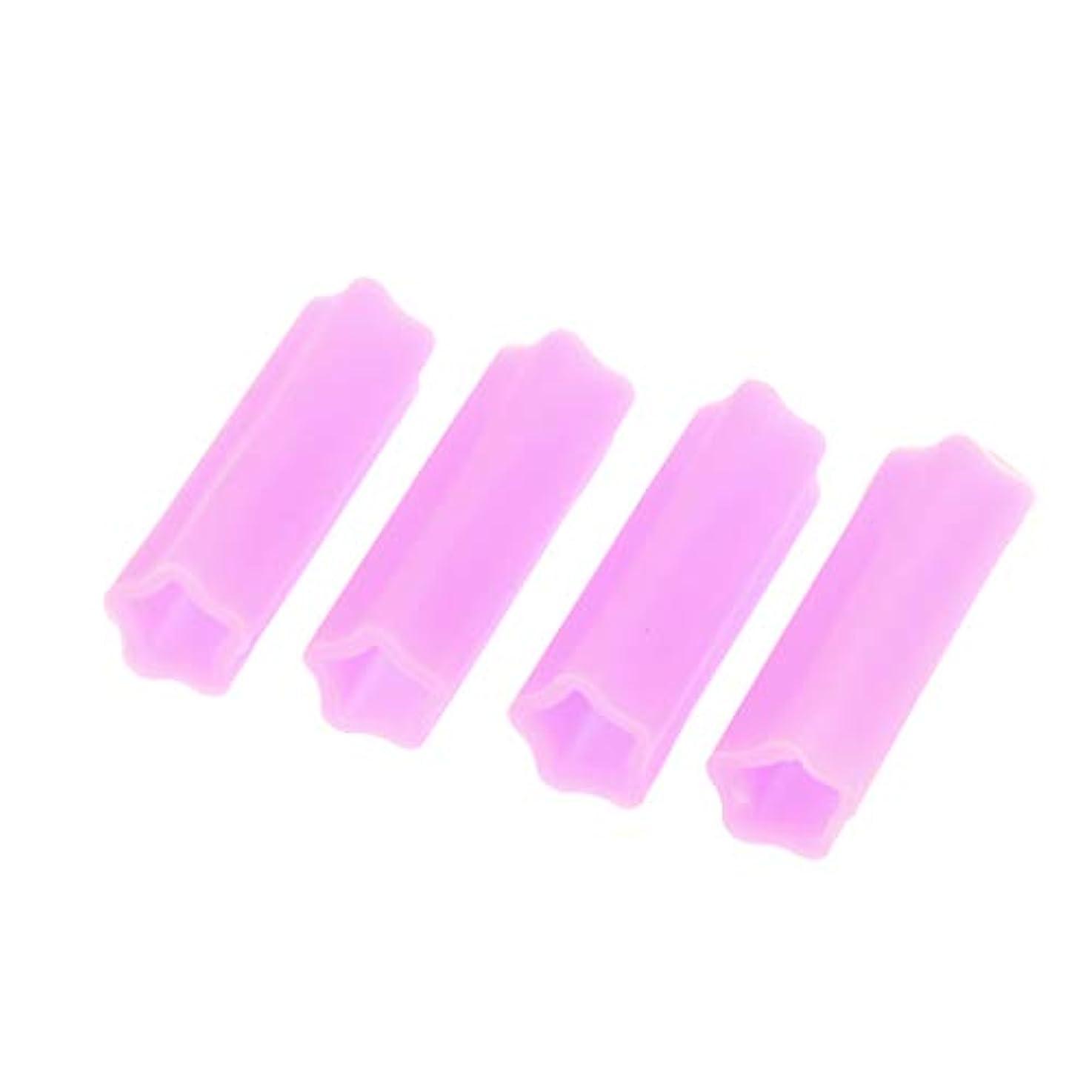 キューティクルニッパー保護カバー アクリルネイル用ツール ネイル道具 ケアツール 4個入り 全5色 - 紫の