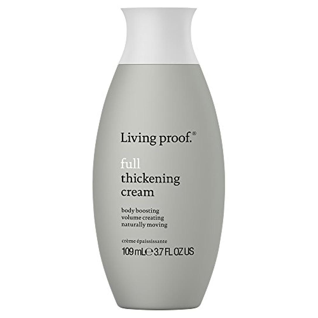 ギャザークリックテスピアン生きている証拠フル肥厚クリーム109ミリリットル (Living Proof) - Living Proof Full Thickening Cream 109ml [並行輸入品]