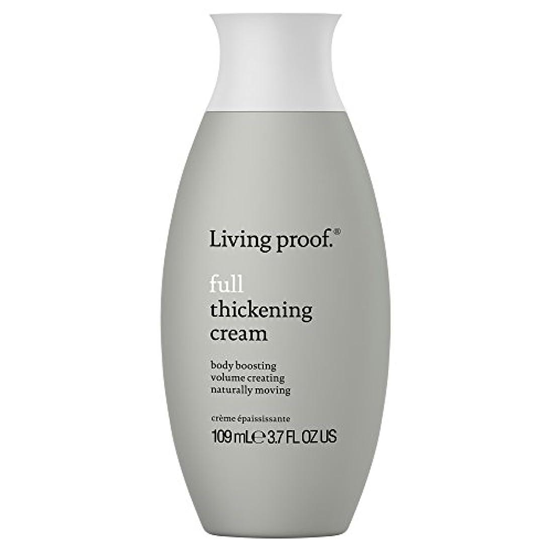 パケットビジュアルアクセサリー生きている証拠フル肥厚クリーム109ミリリットル (Living Proof) (x6) - Living Proof Full Thickening Cream 109ml (Pack of 6) [並行輸入品]