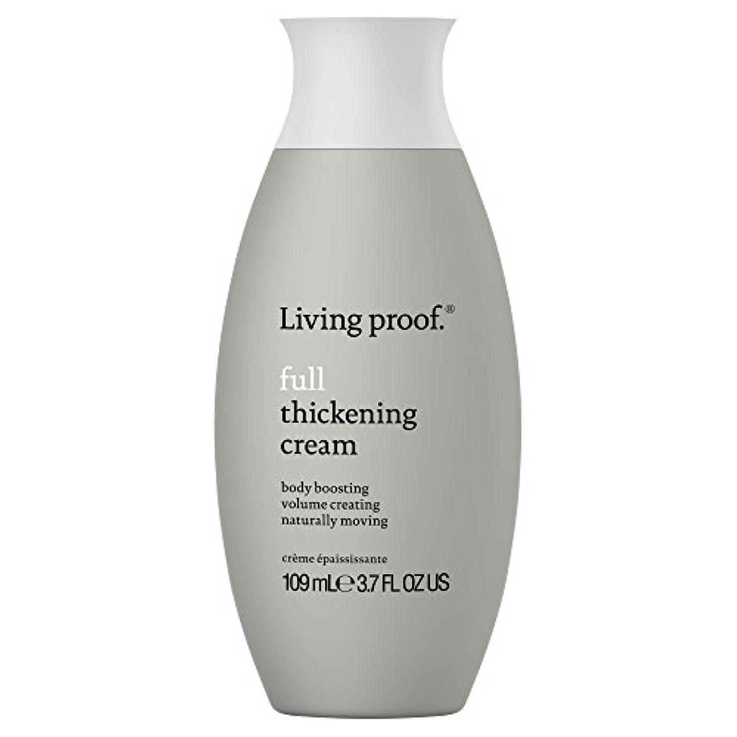 締め切りおばさん動機生きている証拠フル肥厚クリーム109ミリリットル (Living Proof) (x6) - Living Proof Full Thickening Cream 109ml (Pack of 6) [並行輸入品]
