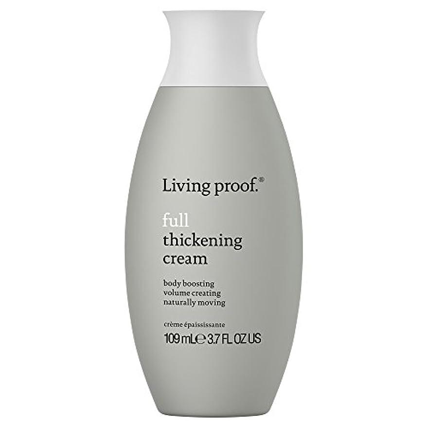 時代小石閉塞生きている証拠フル肥厚クリーム109ミリリットル (Living Proof) - Living Proof Full Thickening Cream 109ml [並行輸入品]