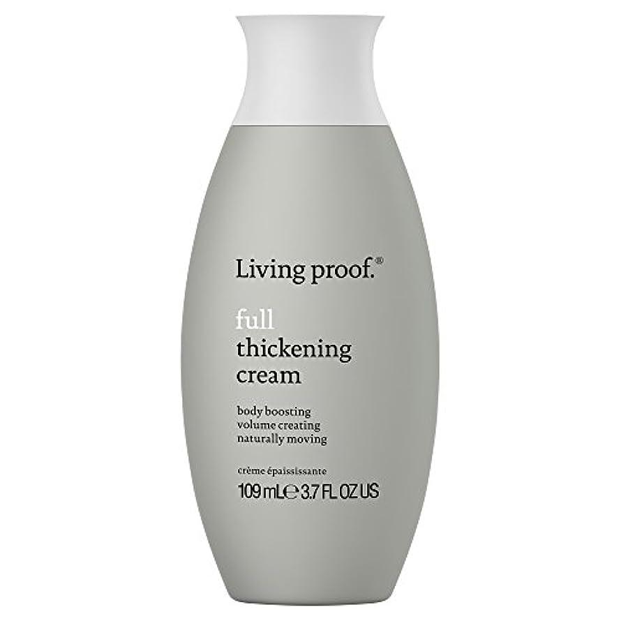 流出中断サンプル生きている証拠フル肥厚クリーム109ミリリットル (Living Proof) (x6) - Living Proof Full Thickening Cream 109ml (Pack of 6) [並行輸入品]