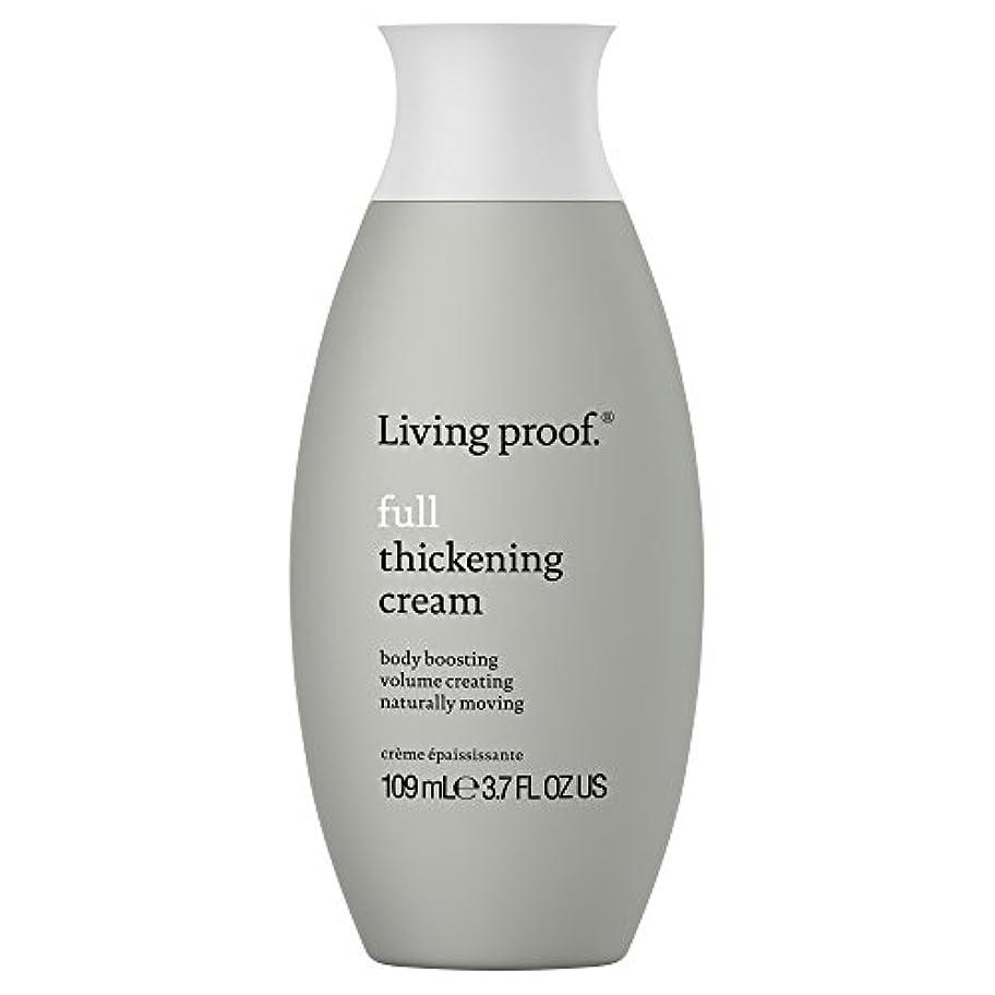 酸化物憤る追跡生きている証拠フル肥厚クリーム109ミリリットル (Living Proof) (x2) - Living Proof Full Thickening Cream 109ml (Pack of 2) [並行輸入品]