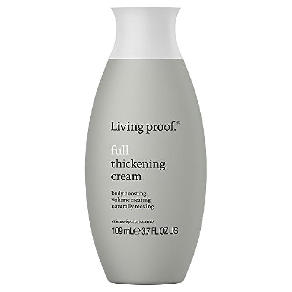 エッセイ癌さびた生きている証拠フル肥厚クリーム109ミリリットル (Living Proof) (x2) - Living Proof Full Thickening Cream 109ml (Pack of 2) [並行輸入品]