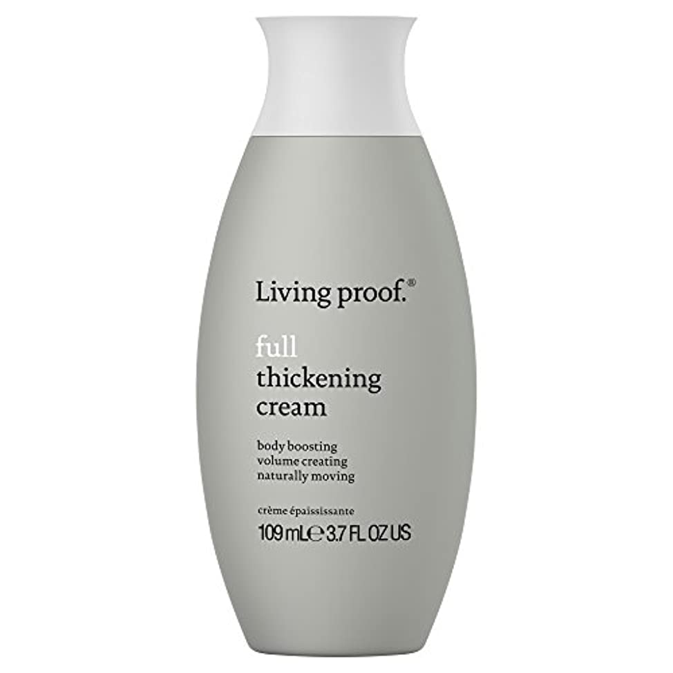 規範に勝る地震生きている証拠フル肥厚クリーム109ミリリットル (Living Proof) (x6) - Living Proof Full Thickening Cream 109ml (Pack of 6) [並行輸入品]
