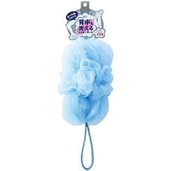 マーナ ボディースポンジ 「背中も洗えるシャボンボール」 ブルー B-872B
