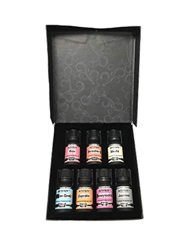 実験をする難破船退化するTop Fragrance Oil Set - Best 7 Scented Perfume Oil - Cotton Candy, Freesia, Frosted Cupcake, Rose, Violet, Vanilla...