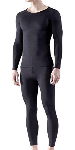 MHS100-WHT_L (ブランク)BLANK メンズ Heat Fit[吸湿発熱・保温] 冬用起毛 tesla テスラ インナーウェア上下セット
