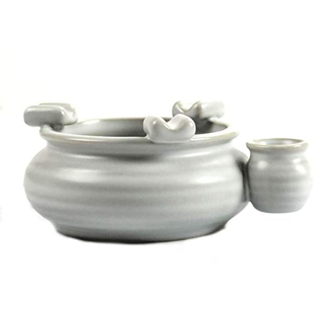 記述する刺激する今ZXW 灰皿- 月の昼間の緑の陶磁器の灰皿の家の装飾のオフィスの灰皿 (色 : Yue Guanbai, サイズ さいず : 13.5x4.5cm)