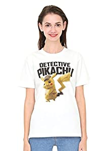 (グラニフ) graniph Tシャツ 名探偵 ピカチュウ (映画「名探偵 ピカチュウ」) (ホワイト) メンズ レディース L (g01) (g14) #おそろいコーデ