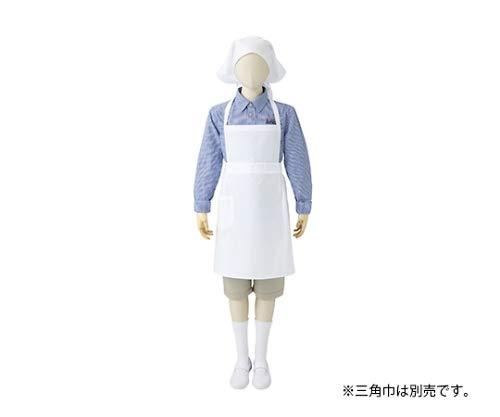 住商モンブラン MONTBLANC(モンブラン) 胸あてエプロン 児童用 白 10号 PE501-2