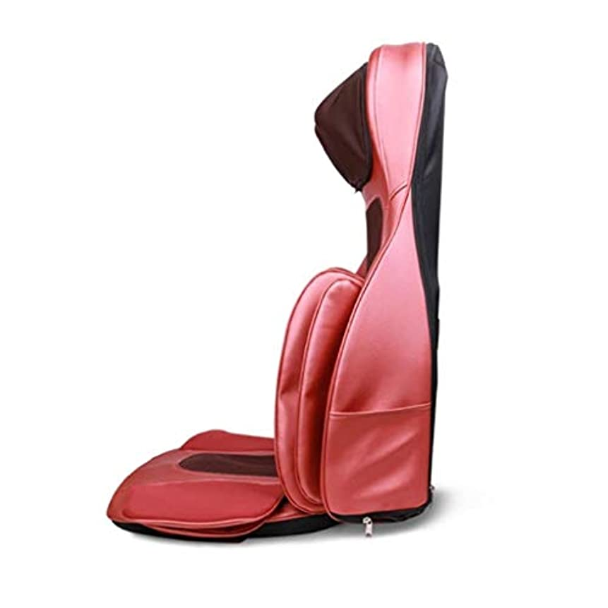 リファインアジテーション所属指圧/ローリング/振動マッサージ、スージング疲労、車/オフィスや家庭のための調節可能な枕の高さを備えた電気マッサージクッション、カーマッサージシート、バック/首のマッサージ、