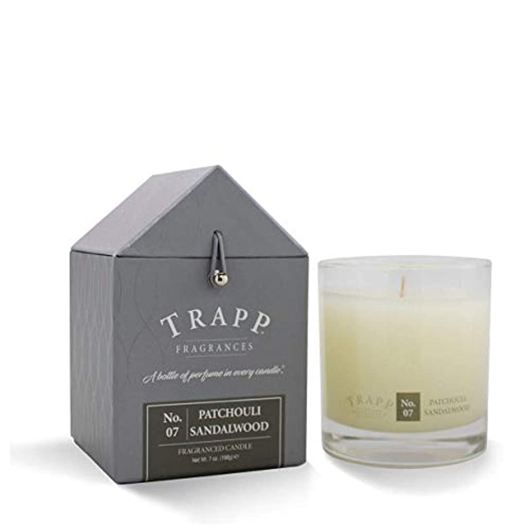 通知調子邪悪なTrapp Large Poured Candle #7 Patchouli Sandalwood (7 oz.) by Trapp [並行輸入品]