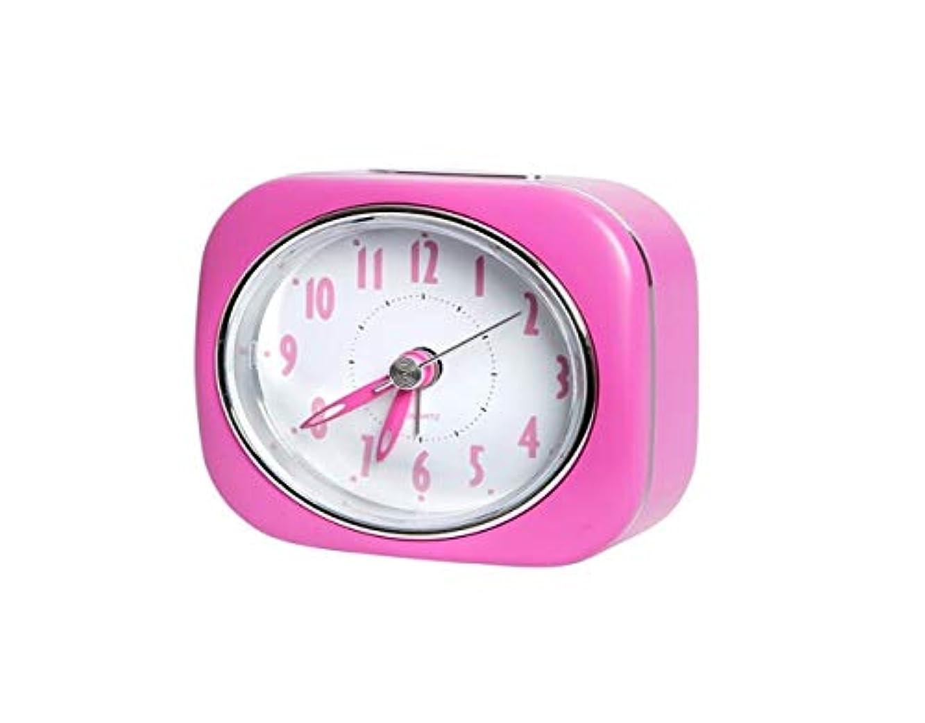 集計知っているに立ち寄る弁護Kaiyitong001 目覚まし時計、キュートでシンプルな、静かな学生の目覚まし時計、寝室のベッドサイドの電子時計、ホームファッションクリエイティブ小さな時計、黄色 (Color : Pink)