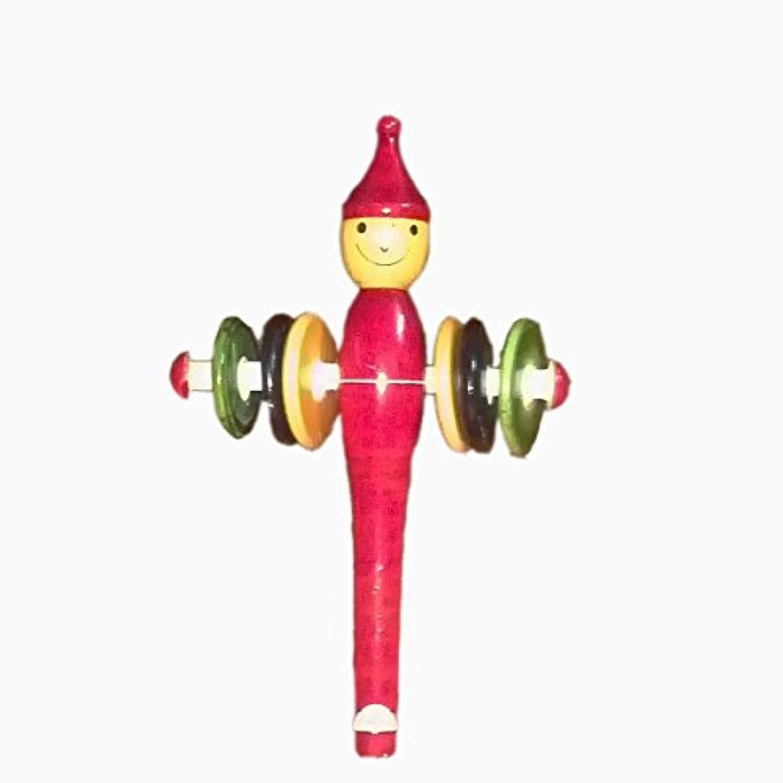 Funwoodゲーム音楽Man Rattle & Whistle木製おもちゃを新生児キッズ