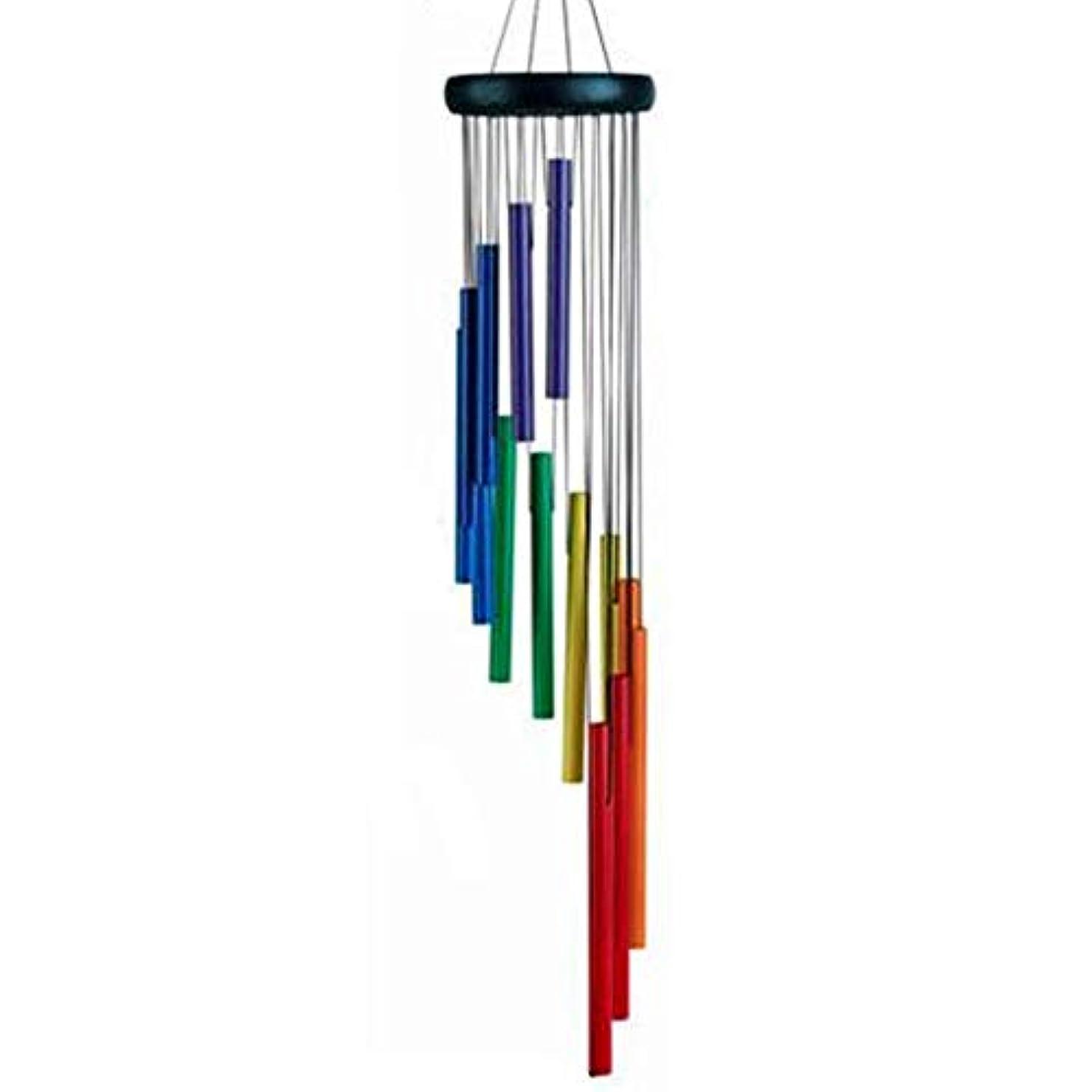 に対処する湿ったに対処するHongyuantongxun 風チャイム、メタル風チャイムを回転14チューブ?ミュージック、七色、長さ74CM,、装飾品ペンダント