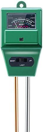 3 in 1 Multi-Function Soil Moisture Meter Soil PH Meter Light and PH Acidity Tester, Soil Testing Kit for Garden,Farm,Lawn P