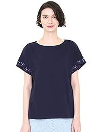 (グラニフ) graniph 刺繍 カフス Tシャツ (テール オブ ザ フラワー) (ネイビー) レディース (g14)