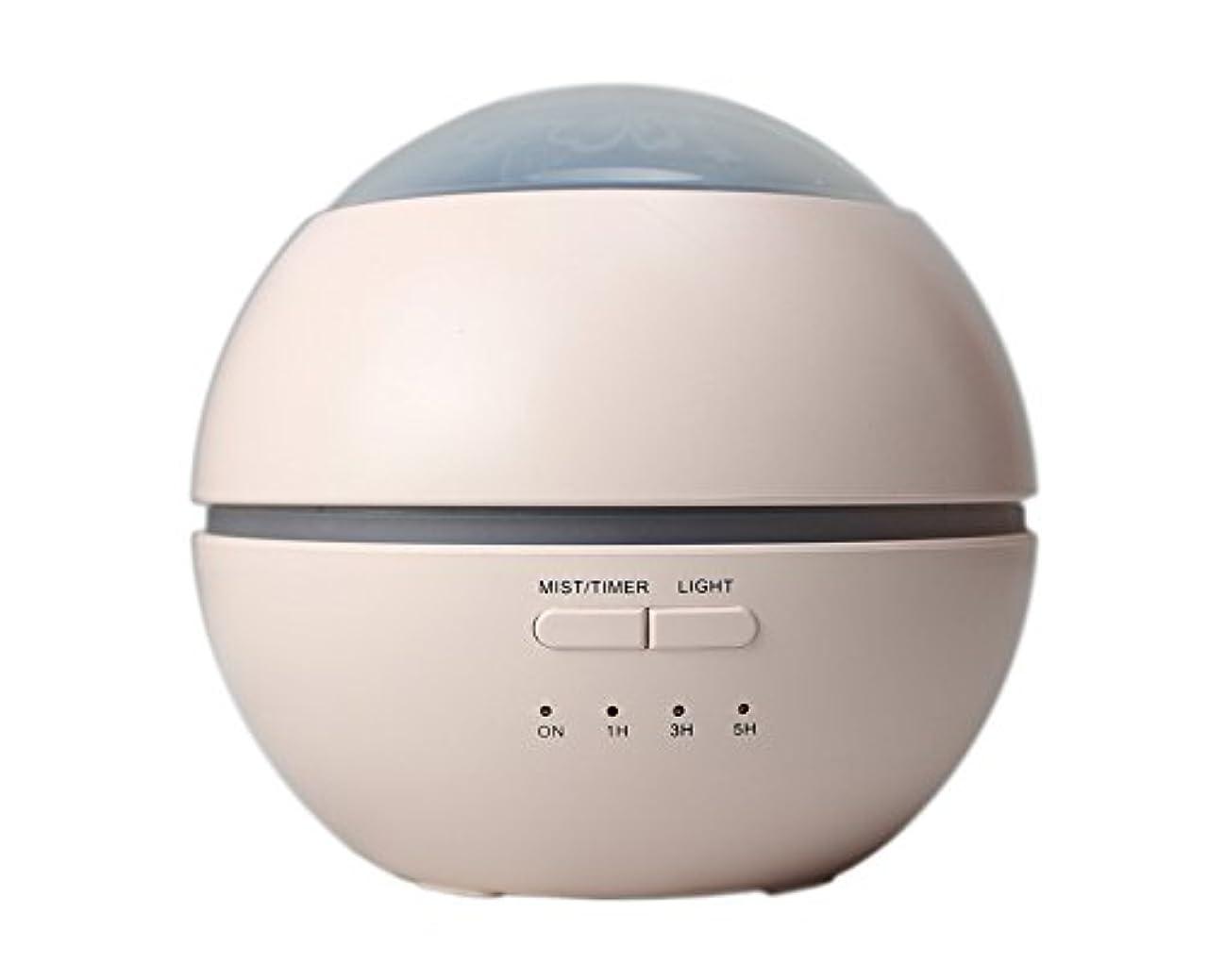 乳白四クリスチャンLIBESON 加湿器 卓上 超音波式 アロマディフューザー 8色LEDライト変換 超静音 ミス調整可能 時間設定タイマー機能付き 空焚き防止機能搭載 アロマ加湿器 ホワイト150mL (ピンク)