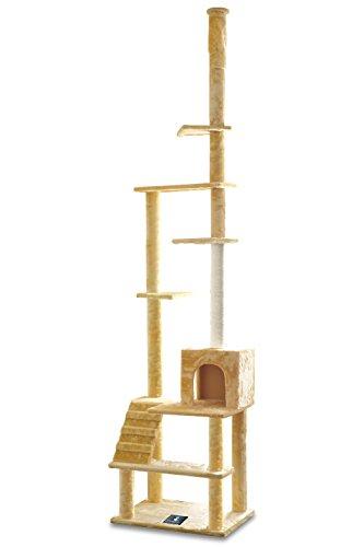 ottostyle.jp つっぱり式キャットタワー [PRINCE TOWER] ベージュ (1部屋、階段1個) 安定感抜群の突っ張...