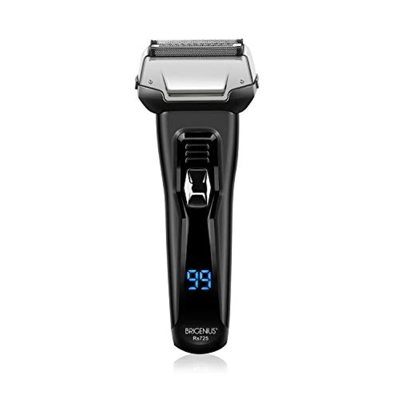 分離するしかしクリア電気シェーバー 3枚刃 往復式 髭剃り ひげそり 水洗い お風呂剃り可 シェーバー LCD残量表示 USB充電式 深剃り トリマー付き 電気カミソリ メンズシェーバー