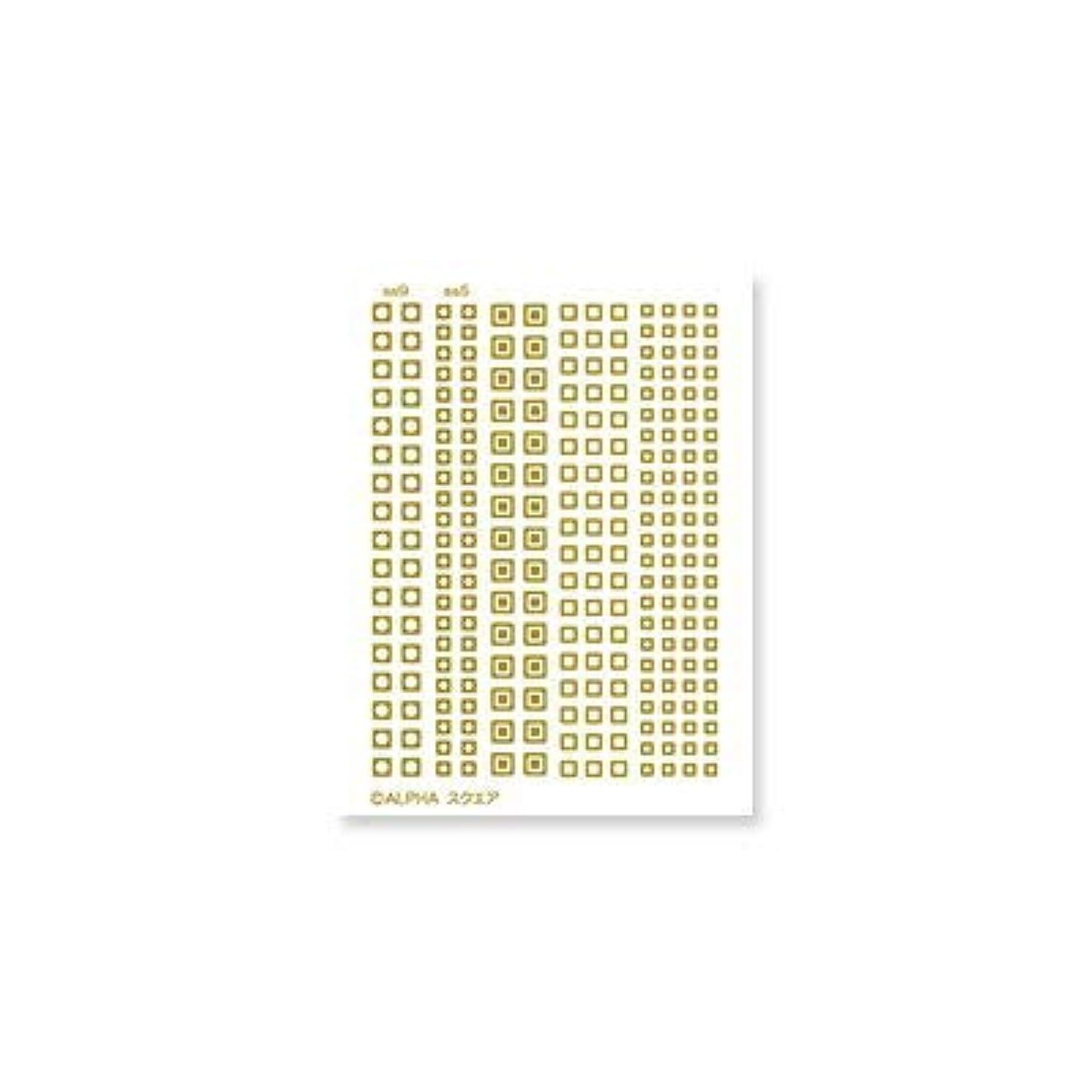 迫害するシード先のことを考えるエレガントカットシールミニ 3枚入 フレーム&スタッズ スクエア ゴールド 3枚 100x76mm